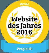 Website des Jahres 2015 - Kategorie Vergleich