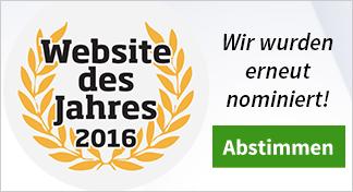Nominierung zur Website des Jahres 2016