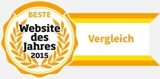Beste Website des Jahres 2015, Kategorie Vergleich