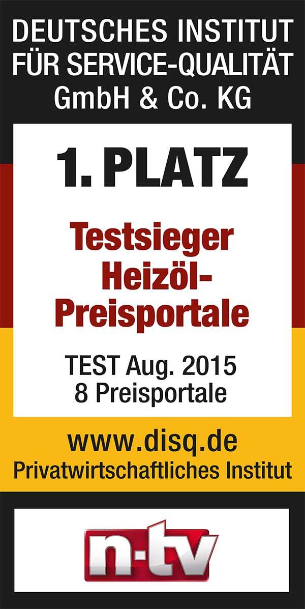 Deutsches Institut für Service-Qualität - Testsieger Siegel