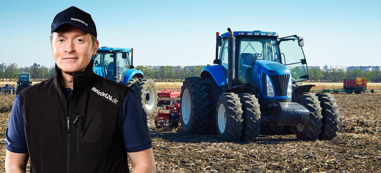Joey Kelly mit Dieseltraktoren