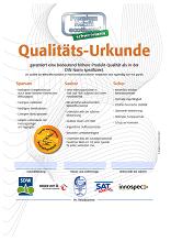 Qualitätsurkunde innospec