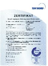 Zertifikat TÜV Nord innospec